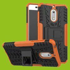 Para Nokia 3.1 5.2 Pulgadas Carcasa Híbrida 2 Piezas Exterior Naranja
