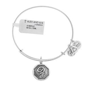 ALEX & ANI Initial Z Silver Bangle A13EB14ZS - RRP £29