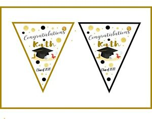 Personalised GRADUATION EXAMS- Bunting Banner  -  3M  Banner , Bunting