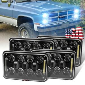 "4pc 4x6"" Led Headlights Hi/Lo Beam For GMC Jimmy Sonoma / Chevrolet Truck H4656"