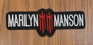 Marilyn Manson sew or Iron On Patch, Rock Music Band Logo, Battle Vest Applique