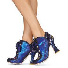 Irregular Choice ''Baroness'' (J) High Glitter Heel Lace Up Ankle Boots Shoes