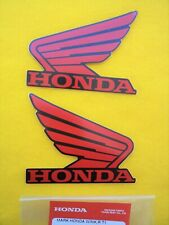 Honda GENUINE Stickers Wing Decals RED on BLACK **UK STOCK**
