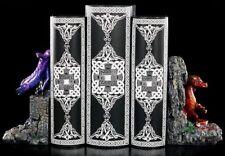 Dragon Bookends - Porcelain Finish - Decorative Figurine Fantasy Supports Holder