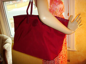 NWT TORY BURCH MARION LARGE EW East/West CABERNET Nylon Tote $295