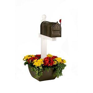 SnapPot post planter-BROWN- mailbox flowerpot planter deck post tree snap pot