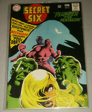 SECRET SIX #2 in VF+ condition 1968 ~ Silver Age DC Comic Book Quite nice