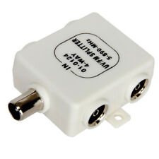 RF Splitter Freeview TV 4 Way UV FM VHF Aerial 1 Input to 4 Output TVsCoaxial
