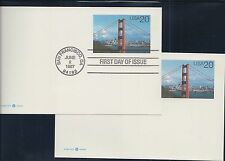 Pacific 97. Postal Cards  2 FDC. and 2 MNH cards  20 cent and 50 cent
