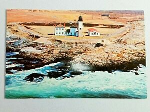 Vintage Postcard Beavertail Lighthouse Circular Foundation 3rd Oldest Jamestown