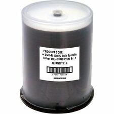 Fuji Dvd-rptw/100 Write-once Dvd-r Spindle With White Thermal Printable Surface
