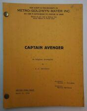 HERO AT LARGE / A.J. Carothers 1979 Screenplay, John Ritter superhero uniform
