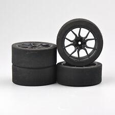 4Pcs 1/10 On-road RC Kforce Racing Unique Foam Tires& Wheels Set 12mm Hex  23003