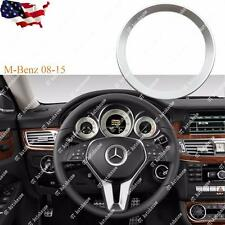 Silver Steering Wheel Center Cover Trim For Mercedes B C E CLA GLA GLK GLC Class