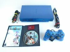 PlayStation 2 PS2 Console Bundle Custom Painted Metallic Blue Xenosaga Episode 1