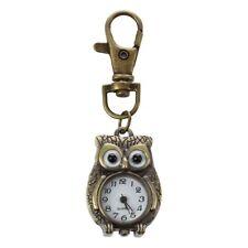 Keychain Clock Keyring Owl Shape 37x24mm R9H3