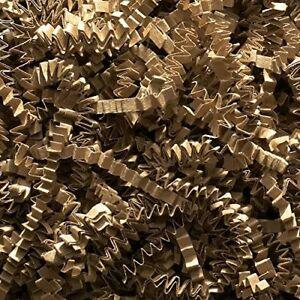 New Kraft Crinkle Paper Natural Tan Shredded Gift Basket Filler Expands Part Bag