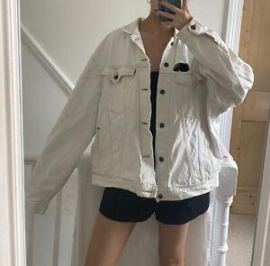 Levis Vintage White Denim Distressed Jacket XL