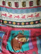 Vtg Lion King Sheets Twin Fitted and Flat 1990s Simba Pumbaa Nala Zazu Disney