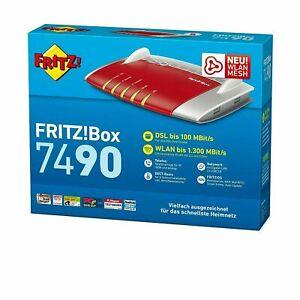 Fritzbox 7490 AVM FRITZ!Box WLAN Router Mesh Repeater DSL VDSL Vectoring