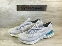 Men's Nike Epic React Flyknit 2 Running Shoes Vast Grey/Blue BQ8928-006 Size 8.5