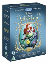 The Little Mermaid Complete Collection Blu-ray Set Film Lot Box Disney Princess