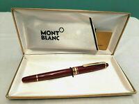 Classic Montblanc Meisterstück 164 Ballpoint Pen in Burgundy