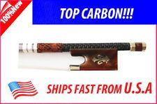 Top Carbon Fiber Violin Bow 4/4 fleur-de-lys -- Deluxe