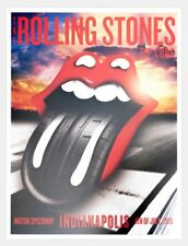 Rolling Stones Official Zip Code Tour Poster Indianapolis Motor Speedway 7/4/15