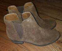 Brand New Women's Brown KENSIE Garry Leather Ankle Booties Boots Size 6.5
