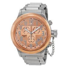 Relojes de pulsera de acero inoxidable dorado Cronógrafo para hombre