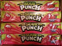 (SEE DETAILS) 12x Sour Punch Straws Strawberry 2oz Strawberry  Candy Gummy Chewy