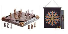 INDOOR GAMES DART BOARD MAGNETIC DARTS CHESS SET MEDIEVAL KNIGHTS AND DRAGONS