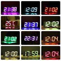 Loskii Digital 3D LED Wall Desk Clock Alarm Clock Sound Sound NEW NEW* NEW