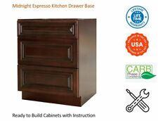 Midnight Espresso Kitchen Drawer Base Cabinet