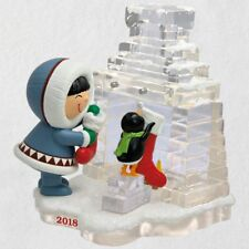 Hallmark 2018 ~ Frosty Friends Hanging Stockings Ornament - 39th in Series