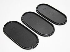 3 x New Tupperware Modular Mates Oval Seal Black Replacement Cover Lid #1616 MM