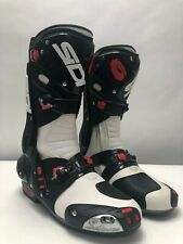 SIDI Vortice Motorbike Boots White Black SPORTS Motorcycle Track size 45