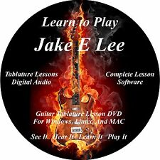 Jake E Lee (Badlands,Ozzy) Guitar TABS Tablature Lesson CD 39 Songs! MEGA BONUS!