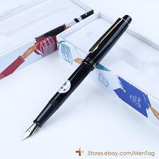 NEW Japan Pilot 78G+ Fountain Pen Screw Cap 22K Gold Nib M Tip Lacquered Black