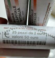 2 EURO 2021 ITALIA ROMA CAPITALE MONETA PROVENINTE DA ROTOLINO ZECCA DISPONIBILE