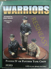 Free shipping Resin soldier warriors 1/35 35353 Panzer IV or Panther Crew X 3