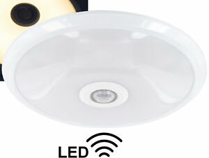 LED 12W Slim Ceiling Light With Sensor 360° - 800lm - Warm White - Metal - Matte