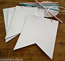 DIY Blank white pennant bunting/banner kit-wedding,party,baby shower decoration