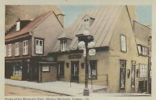"*Canada Postcard-""House where 'French Commander Montcalm' Died"" /Quebec/(U1-CAN9"