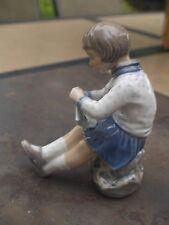 """DAHL JENSEN COPENHAGEN """"Girl Knitting"""" FIGURINE #1197"""