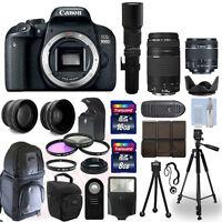 Canon EOS 800D DSLR Camera + 5 Lens Kit: 18-55mm STM + 75-300mm + 500mm and More
