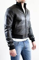 ★Giacca Giubbotto Uomo in di PELLE 100% Men Leather Jacket Veste Homme Cuir e8ad