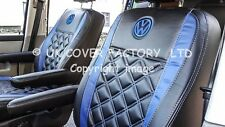 1+1  VW TRANSPORTER T5 VAN SEAT COVERS BLUE BENTLEY STITCH  152BKBUBUVWSC