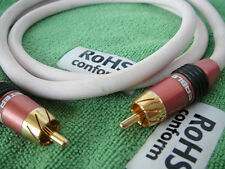 Audio Interconnts Bass Subwoofer RCA Male to RCA Male Gold-Plated Cable - 1meter